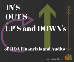 HOA 101: The In's and Out's of HOA Financials and Audits