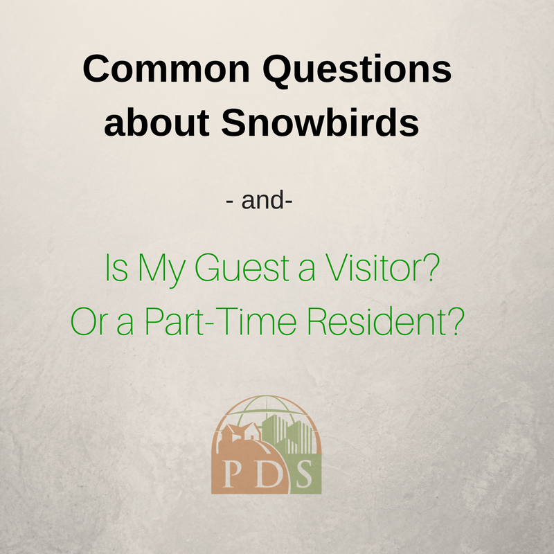 Temporary Residents or Snowbirds in the HOA